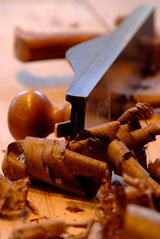 Walnut plane shavings